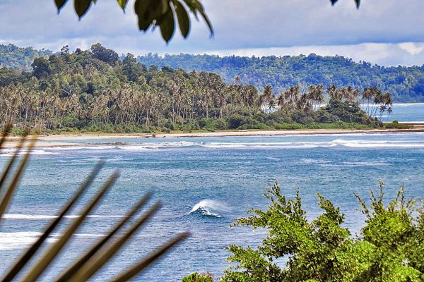 Waves and Beach Simeulue Island