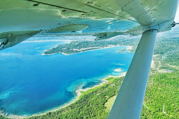 Airplaine Above Simeulue Island