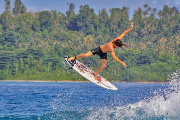 Surfing Sea Simeulue Island