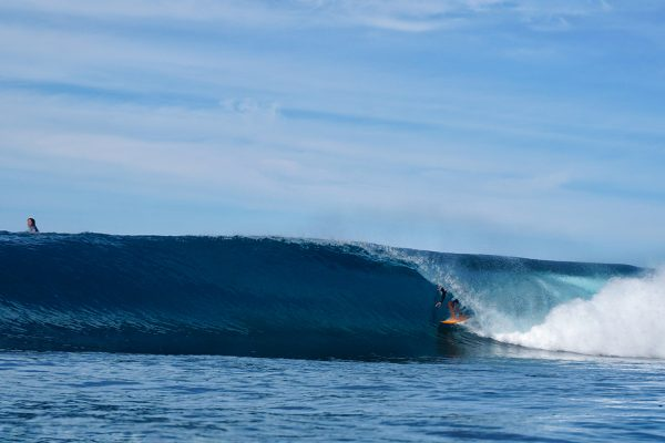 Man surfing in Wave North Sumatra
